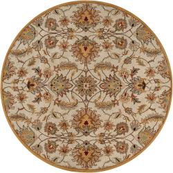Hand-tufted Gold Alamosa Wool Rug (4' Round)