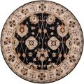 Hand-tufted Black Alsea Wool Rug (4' Round)