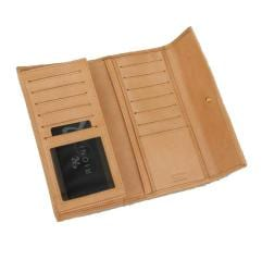 Rioni Signature Brown Leather Tri-fold Wallet
