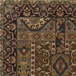 Hand-tufted Brown Amite Wool Rug (4' x 6')
