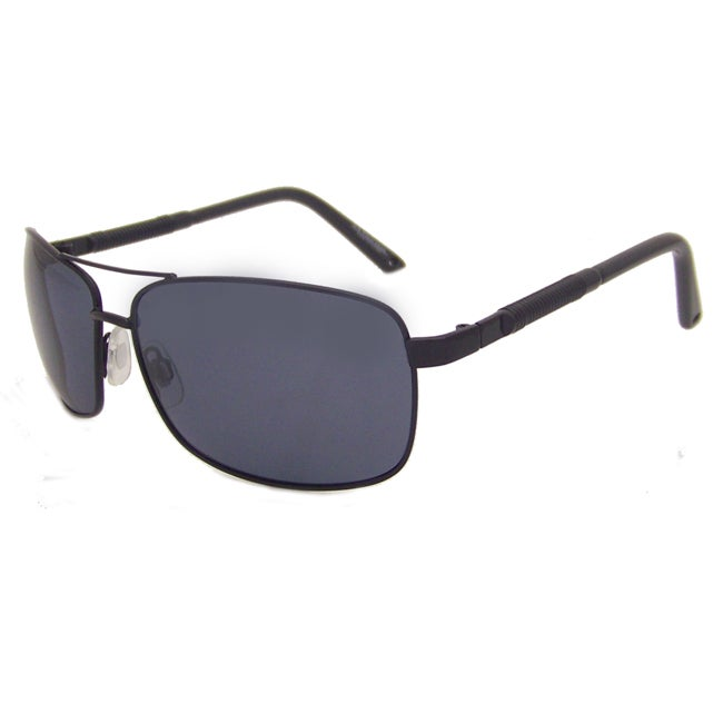 US Polo Association Men's Black Aviator Sunglasses