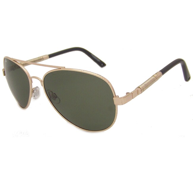 US Polo Association Mens 'Greenwich' Gold Metal Aviator Sunglasses