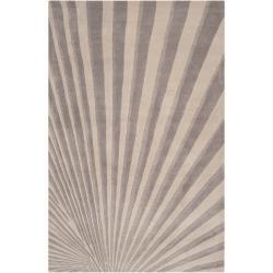 Candice Olson Hand-tufted Gray Notre Geometric Wool Rug (3'3 x 5'3)