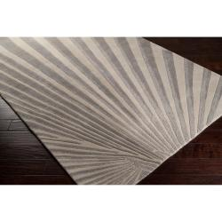 Candice Olson Hand-tufted Gray Notre Geometric Wool Rug (5' x 8')