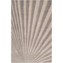 Candice Olson Hand-tufted Gray Notre Geometric Wool Rug (8' x 11')