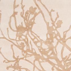 Candice Olson Hand-tufted Beige Vatican BoBeigeical Rug  (3'3 x 5'3)