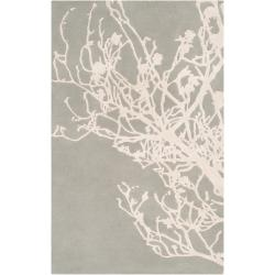 Candice Olson Hand-tufted Grey Eiffel Contemporary Botanical Rug (5' x 8')