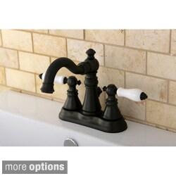 Transitional Double-handle Oil Rubbed Bronze Bathroom Faucet