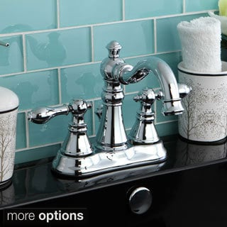 Transitional Double-handle Chrome Bathroom Faucet