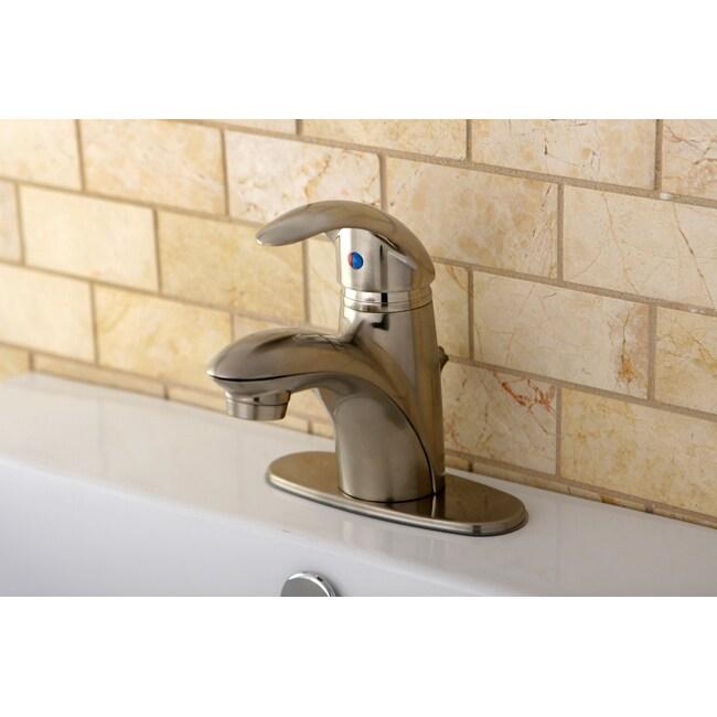 Single-handle Satin Nickel Centerset Bathroom Faucet