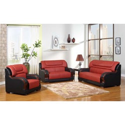 Madison Genuine Leather Sofa Set