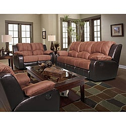 Pamela Two-Tone Reclining Sofa Set