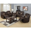 Capson Brown Reclining Sofa Set