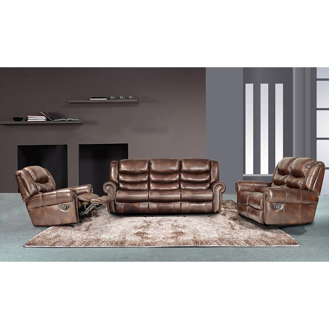 Brown Reclining Sofa Set