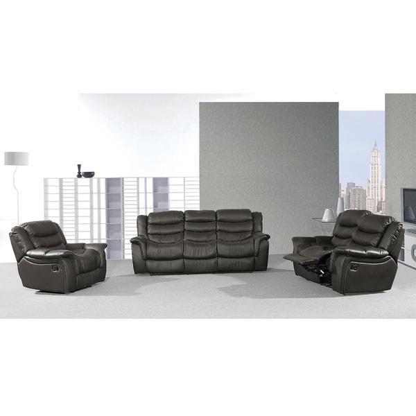Casanova Brown Reclining Sofa Set