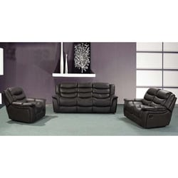 Casanova Brown Reclining Sofa Set