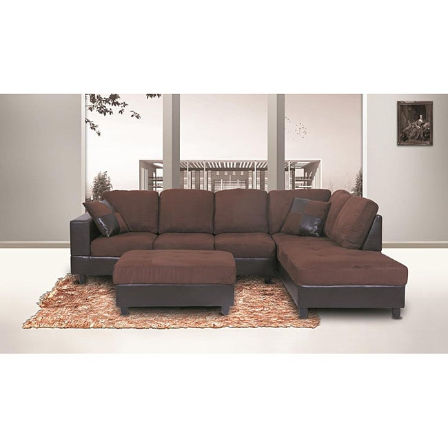 Jameson Microfiber Left Arm Facing Sectional Sofa