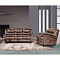 Godfather Brown Reclining Sofa and Loveseat Set