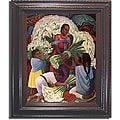 Diego Rivera 'Flower Vendor' Framed Canvas Art