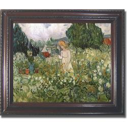 Vincent Van Gogh 'Mademoiselle Gachet in her Garden' Framed Canvas Art