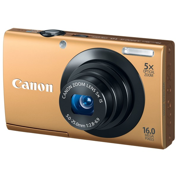 Canon Powershot A3400IS 16MP Gold Digital Camera