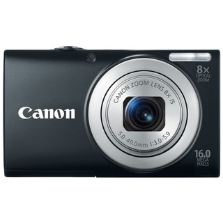 Canon PowerShot A4000IS 16MP Black Digital Camera