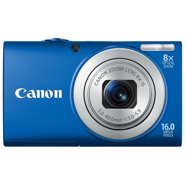Canon PowerShot A4000IS 16MP Blue Digital Camera