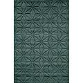 Hand-loomed Loft Dimensions Blue Wool Rug (8' x 11')