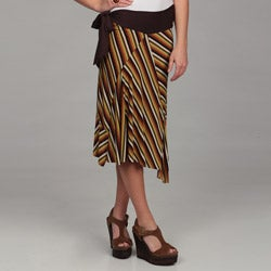 24/7 Comfort Apparel Women's Asymetrical Skirt