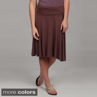 24/7 Comfort Apparel Women's Foldover Skirt