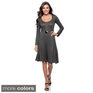24/7 Comfort Apparel Women's Long-sleeve Dress