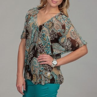 24/7 Comfort Apparel Women's Bloussant Top