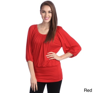 24/7 Comfort Apparel Women's Banded Waist Top
