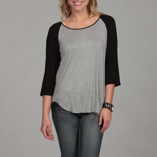 24/7 Comfort Apparel Women's Two-tone Baseball Tee