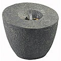 Triteia 24-inch High With Natural Rock Finish Outdoor Floor Fountain