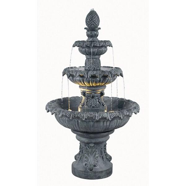 Enki Outdoor 3-Tier Floor Fountain