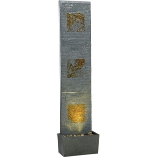 Stheno 64-inch High With Slate Finish Indoor/ Outdoor Floor Fountain