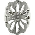 CGC Stainless Steel Cut-out Flower Shaped Ring