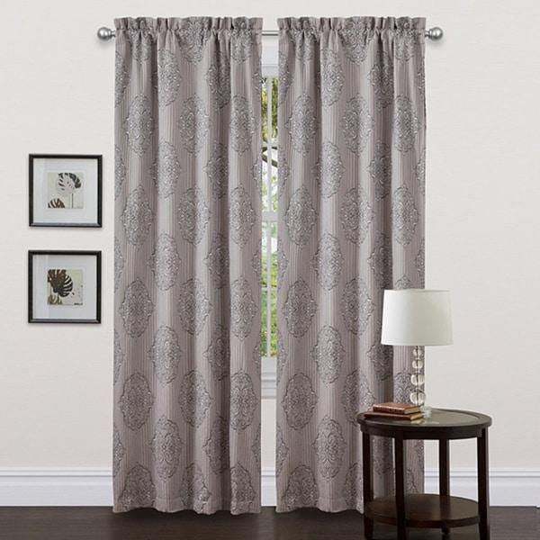 Lush Decor Grey 84-inch Empire Curtain Panel