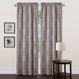 Lush Decor Grey 84-inch Empire Curtain Panel