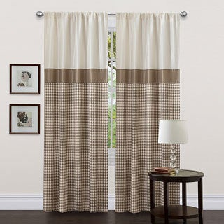 Lush Decor Taupe 84-inch Waldorf Curtain Panel
