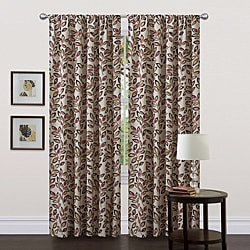 Lush Decor Red 84-inch Ventura Curtain Panel