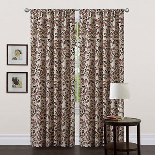 Lush Decor Red 84-inch Ventura Curtain Panel