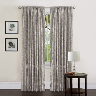 Lush Decor Gold Sequin Silver 84-inch Angelica Curtain Panel