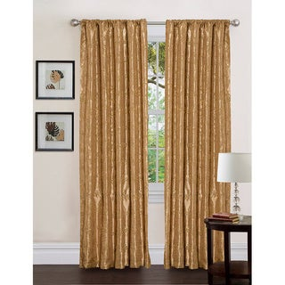 Lush Decor Gold 84-inch Angelica Curtain Panel