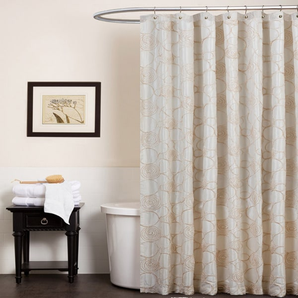 Lush Decor Circle Charm Beige Shower Curtain