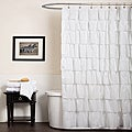 Lush Decor White Ruffle Shower Curtain
