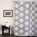 Lush Decor Dimension White/ Black Shower Curtain