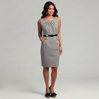 Connected Apparel Women's Black Checkered Dress FINAL SALE