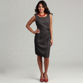 Connected Apparel Women's Black Buckle Dress